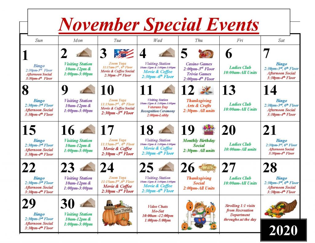 Throgs Neck November 2020 Special Events