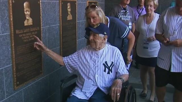 Nick Calabrese at Yankee Stadium