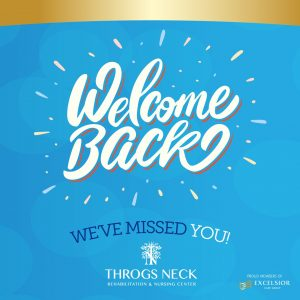 Welcome Back! We've Missed You!